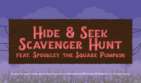 Hide and Seek Scavenger Hunt featuring Spookley the Square Pumpkin